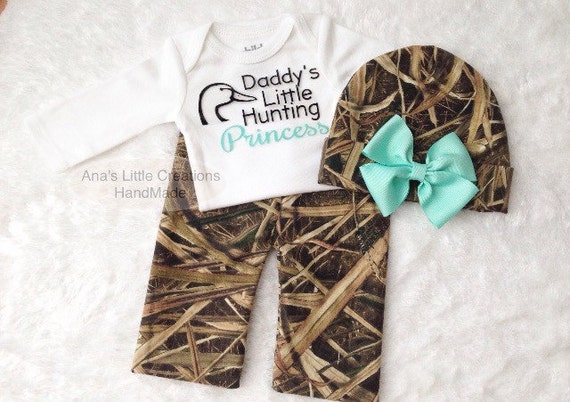 Mossy Oak Shadow Grass Blades Girl Newborn Take Home Outfit, Going Home Outfit, Baby Shower Gift Set, Camo Newborn Girl Outfit, Mint