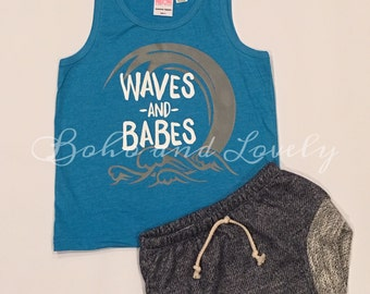 Waves and Babes tank