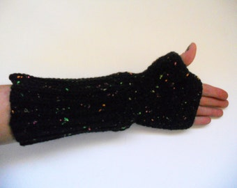 GOT Jon Snow inspired- Neon Fleck Crochet Fingerless Arm Warmers