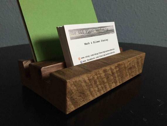 Reclaimed Rustic Business Card Amp Brochure Holder Made From