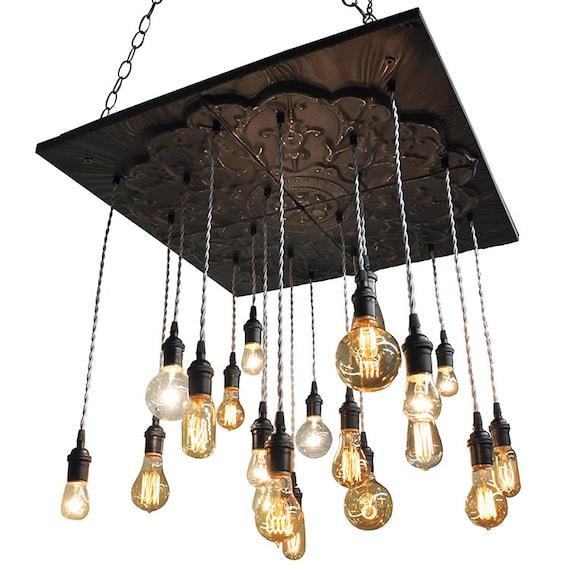 Industrial Tin Chandelier Industrial By Industriallightworks