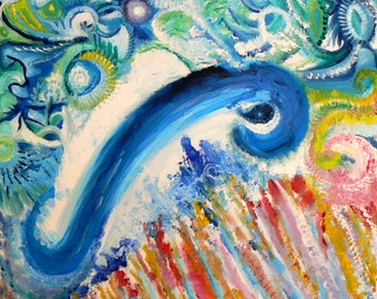Power animal painting. My Blue Beluga