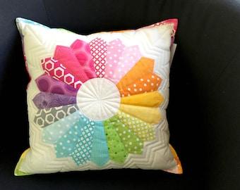 Rainbow patchwork Cushion cover
