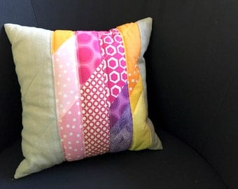 Modern patchwork Cushion cover with stripe pattern