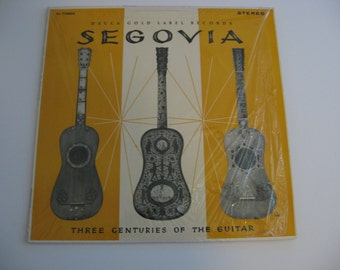 Rare!  Andres Segovia - Three Centuries Of the Guitar - 1961