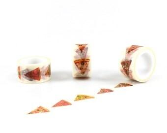 PIZZA WASHI TAPE - Pizza Slice Pattern Washi Tape (5 Metre Roll)