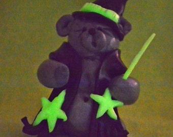 Magic Bear - Glow in the Dark - Handmade Polymer Clay