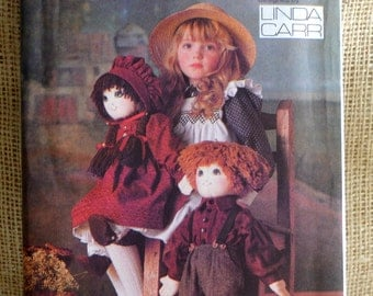 Uncut Doll Pattern// Vogue 9699 // Boy and Girl Doll // Doll Clothes Pattern // Removable Clothing, Doll shoes