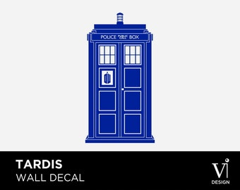 Doctor Who Tardis - Decorative Wall Art - Vinyl Graphic - Multiple Sizes