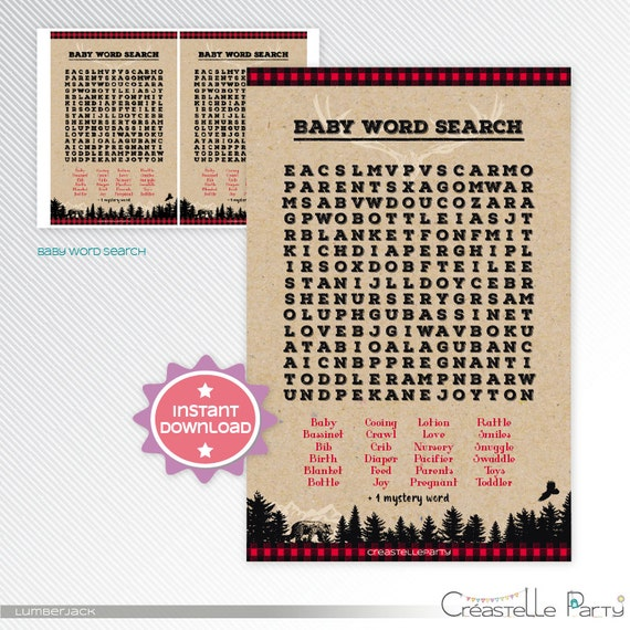 LUMBERJACK WORD SEARCH word search puzzle - Find these ...