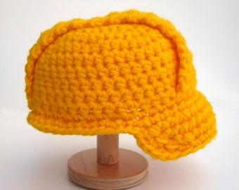 Toddler/Pre-Schooler Crochet Construction Hat