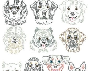 Dog breeds part 8 for the border 10x10cm