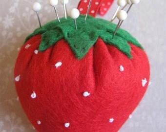 Handmade Strawberry Pin Cushion