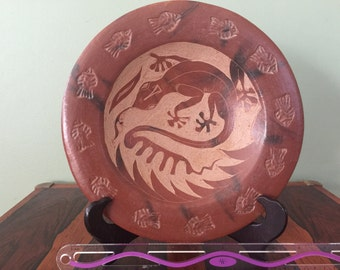 Red pottery plate