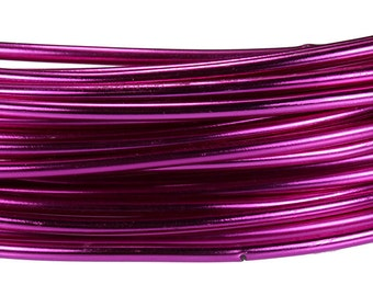 Aluminum Wire Strong Pink Color Wire 12ga 39 Feet Per Bag (WR72612)