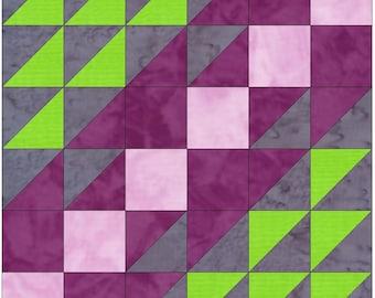 Cut Glass Dish 15 Inch Block Paper Template Quilting Block Pattern PDF