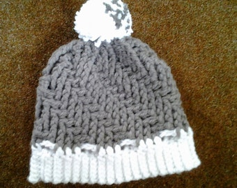 Hand Crocheted Stepping Texture Hat for Adults