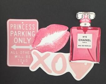 Pink Girly Tumblr Sticker Set