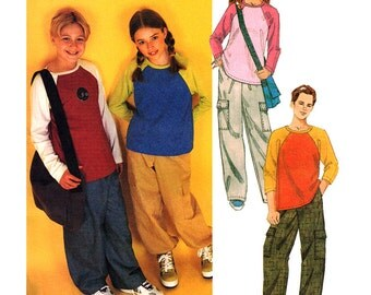 McCalls Sewing Pattern 2926 Boy's, Girl's  Top, Pull-on Pants, Bag  Size:  CH 7-8-10  Uncut