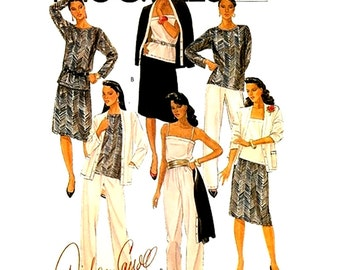 McCall's Sewing Pattern 8430 Misses' Jacket, Top, Camisole, Skirt, Pants  Size:  15  Used