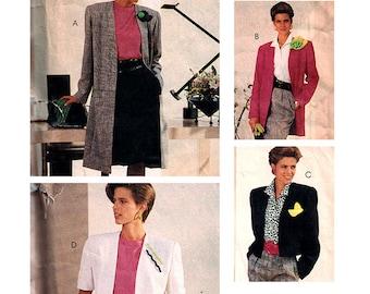 McCall's Sewing Pattern 4104 Misses' unlined Jacket, Coat  Size:  C  10-12-14  Uncut