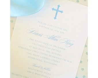 Traditional Baptism Invitation