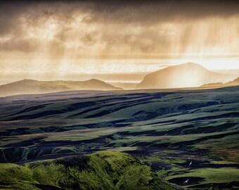 Light Shower - Vik - Highlands, Iceland - Fine Art Photo Print - Home Decor