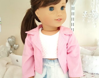 18 inch doll pink jacket