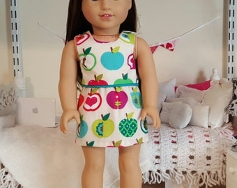 18 inch doll apple skirt and crop top