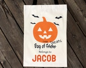 trick or treat bag - personalized halloween candy bag