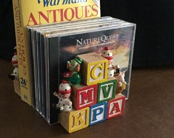 Wooden Alphabet Block Bookends