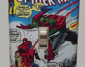 Spiderman Light Switch Cover Plate - Amazing Spider Man 122 Marvel Comics FREE SHIPPING