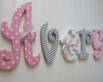 wall hanging letters etsy
