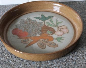Vintage Kitsch Plate Vegetables