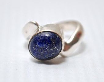 Sterling Silver Lapis Ring Sz 5 #6264