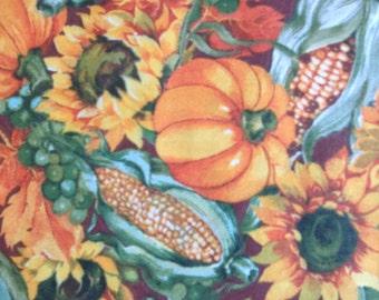 Harvest - pumpkins Indian corn sunflowers
