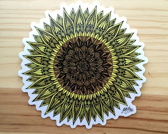 Zentangle - Sunflower Sticker