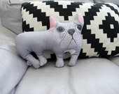 French Bulldog Fun Plush Cushion Pillow perfect to decorate the kid's room or for a dog frenchie fan