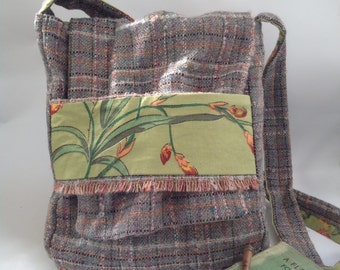 Upcycled wool shoulder bag