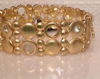 Handmade matte gold plated bracelet, 20cm