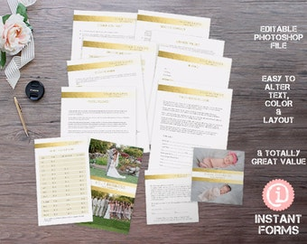 Photography Business Release Forms and Contracts - IF088 - INSTANT DOWNLOAD. You'll receive 12 psd files