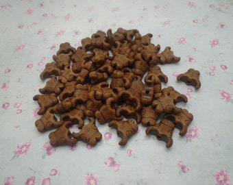 50pcs 19x18mm antique brown color acrylic plastic resin bull cow ox head bead , retro pendant charm , B3045-50