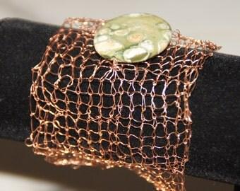 Copper Wire Cuff Bracelet