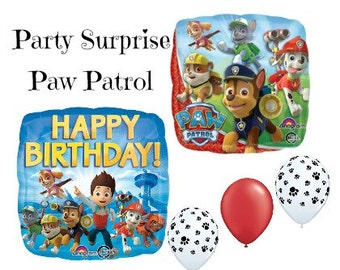 Paw Patrol Balloons Kids Birthday Party Paw Print Boys Birthday Girls Birthday Paw Patrol Party Balloons Chase Skye Balloons
