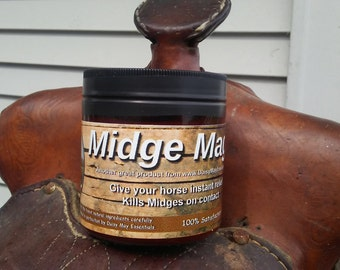 Midge Magic  -Kills gnats and bugs on contact Horse No Chemicals Gnats No See Ums Itch  - FREE SHIPPING Healing
