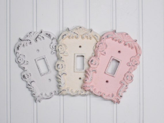 Light Switch Cover Shabby Chic Light Switch Cover Nursery Decor