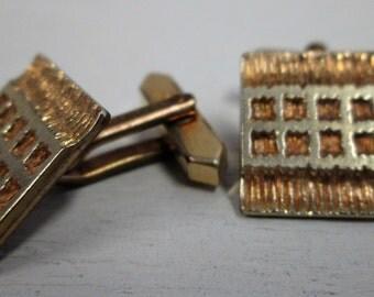 Vintage Cuff Links, gold cuff links