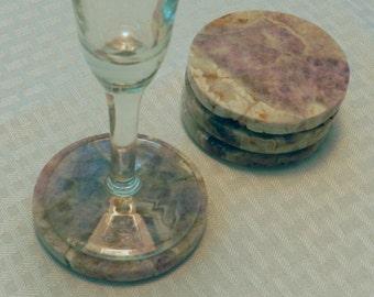Amethyst Coasters - Set of 4 (COA-AM4-01)