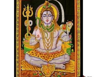 Shiva, Saraswati, Sai Baba, Ganesh, Lakshmi - Wall Hanging/Throw