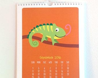 SALE 50% OFF -2016 Calendar- Wall Calendar - Pet Calendar- Pet Wall Decor - Cute Animals - Kids Calendar - Cute Calendar - Kids Decor